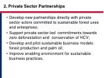 2 private sector partnerships