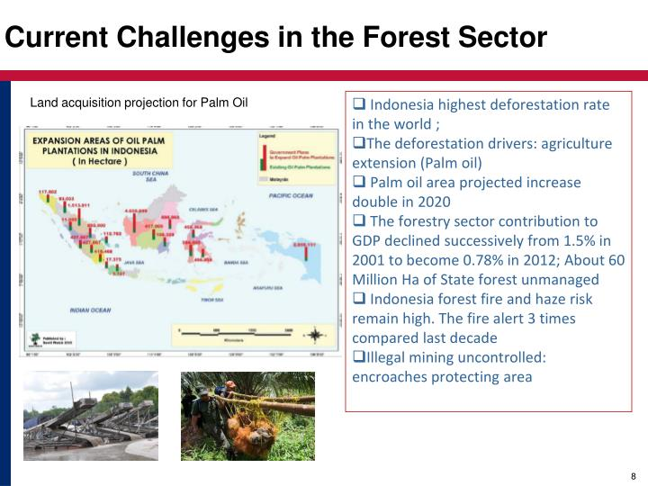 Land acquisition projection for Palm Oil