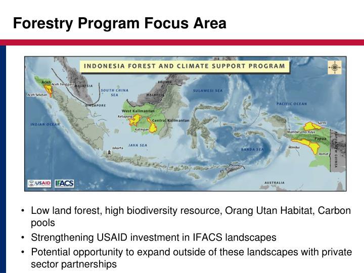 Forestry Program Focus Area