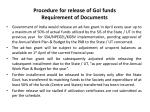 procedure for release of goi funds requirement of documents