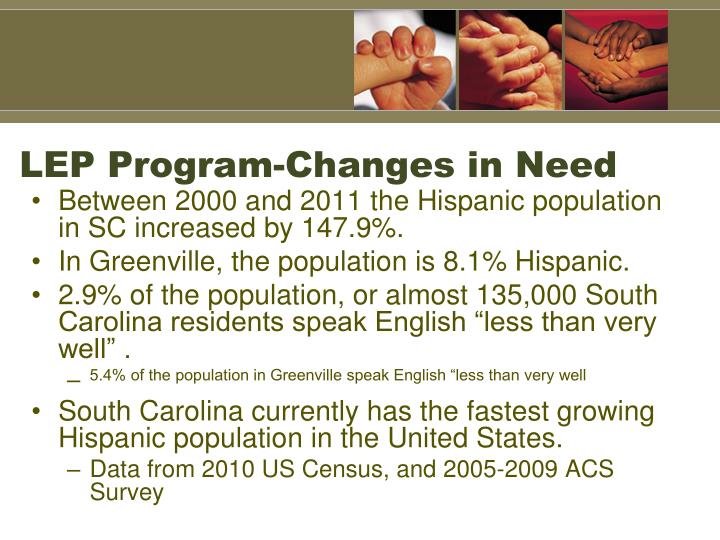LEP Program-Changes in Need