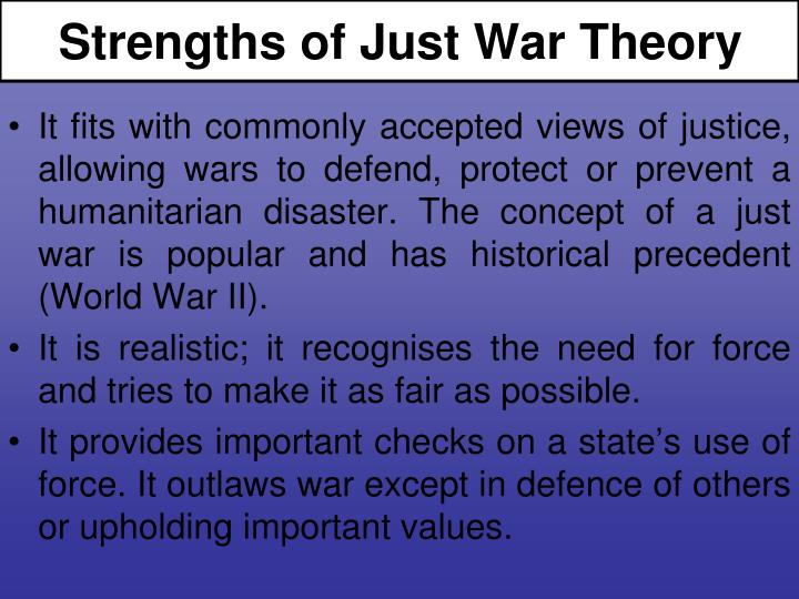 Strengths of Just War Theory
