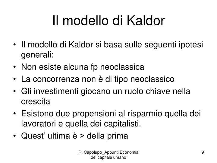 Il modello di Kaldor