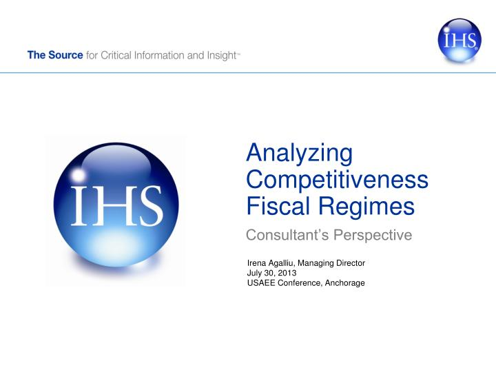 analyzing competitiveness fiscal regimes