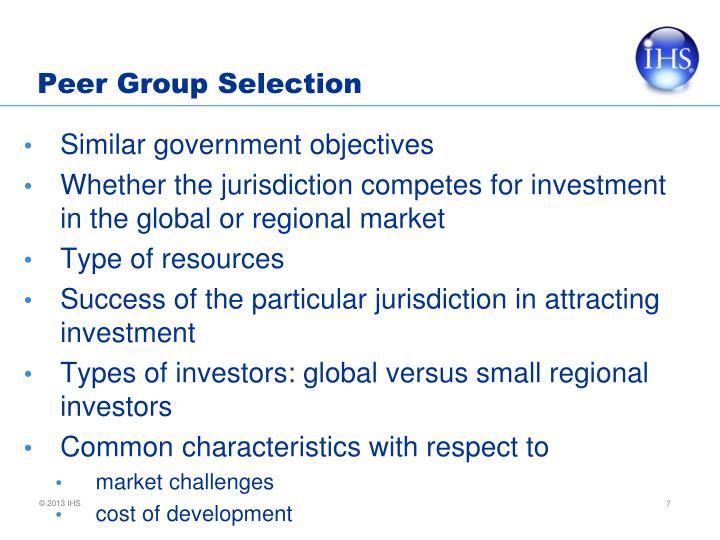 Peer Group Selection