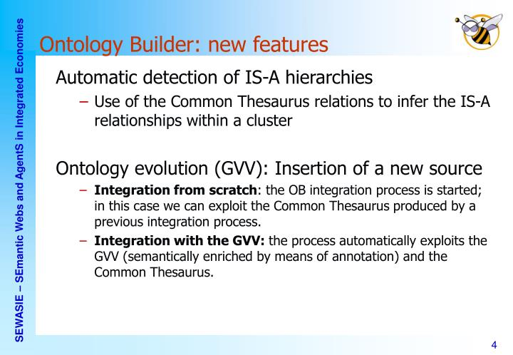 Ontology Builder: new features