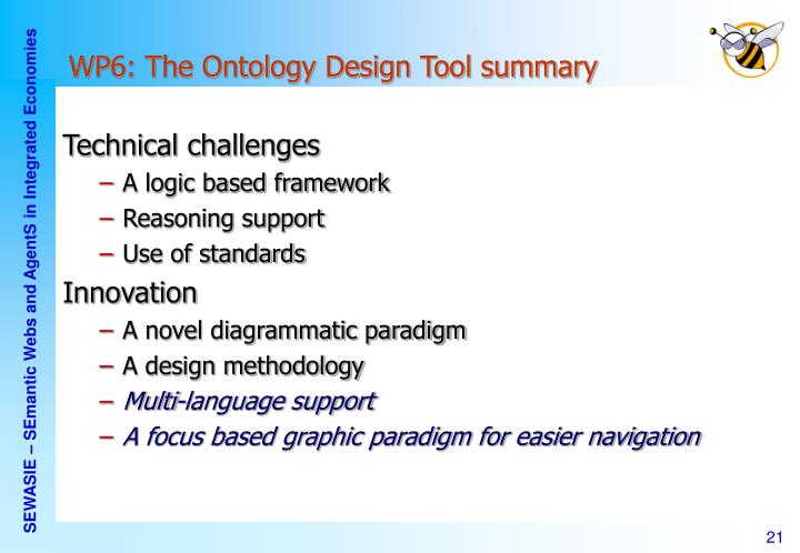 WP6: The Ontology Design Tool summary