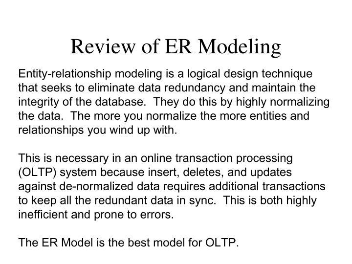 Review of ER Modeling