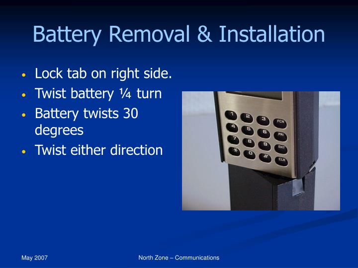 Battery Removal & Installation