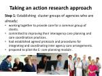 taking an action research approach