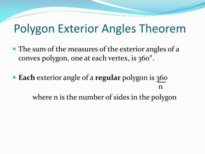 Polygon Exterior Angles Theorem