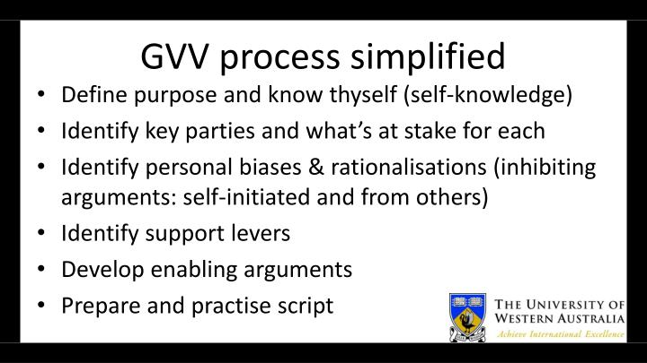 GVV process simplified