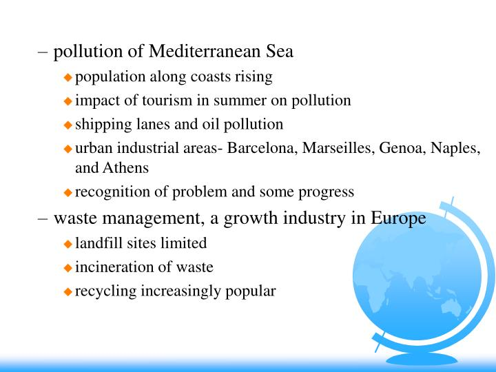 pollution of Mediterranean Sea