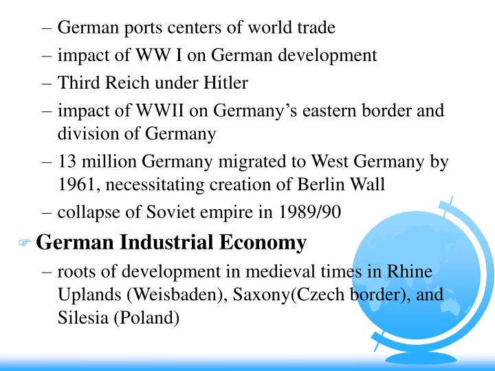 German ports centers of world trade