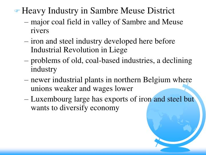 Heavy Industry in Sambre Meuse District
