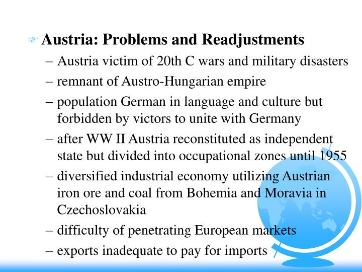 Austria: Problems and Readjustments