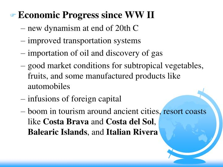 Economic Progress since WW II