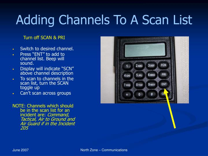 Adding Channels To A Scan List