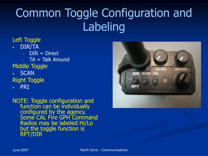 Common Toggle Configuration and Labeling