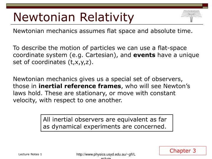 Newtonian Relativity