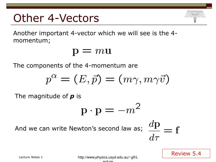 Other 4-Vectors