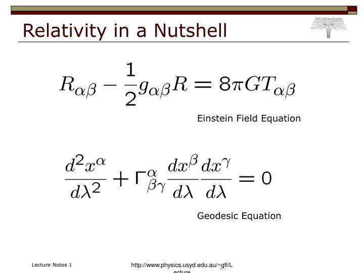 Relativity in a Nutshell