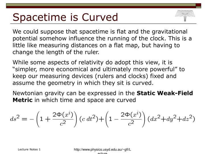 Spacetime is Curved