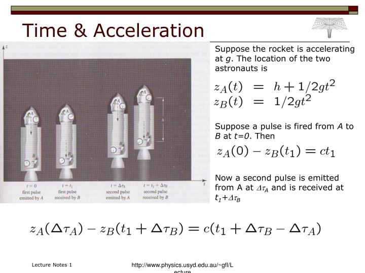 Time & Acceleration