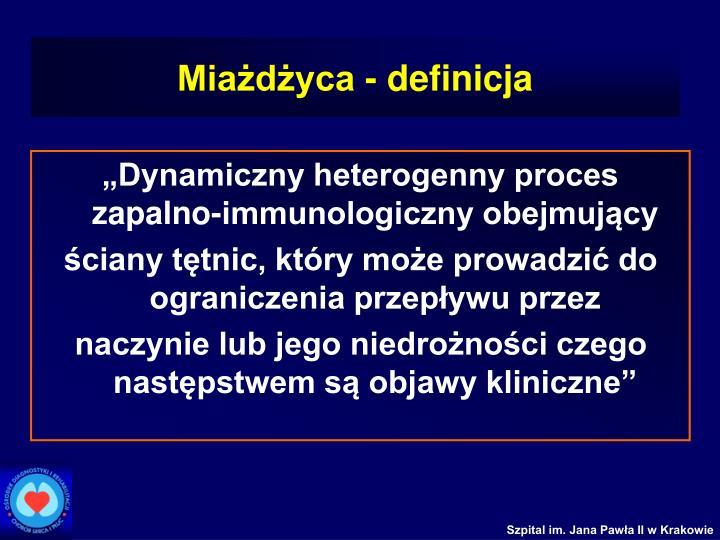 Miażdżyca - definicja