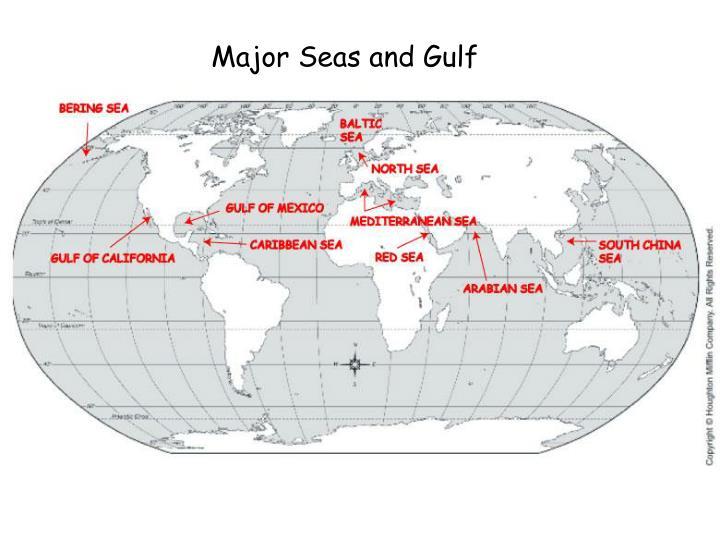 Major Seas and Gulf