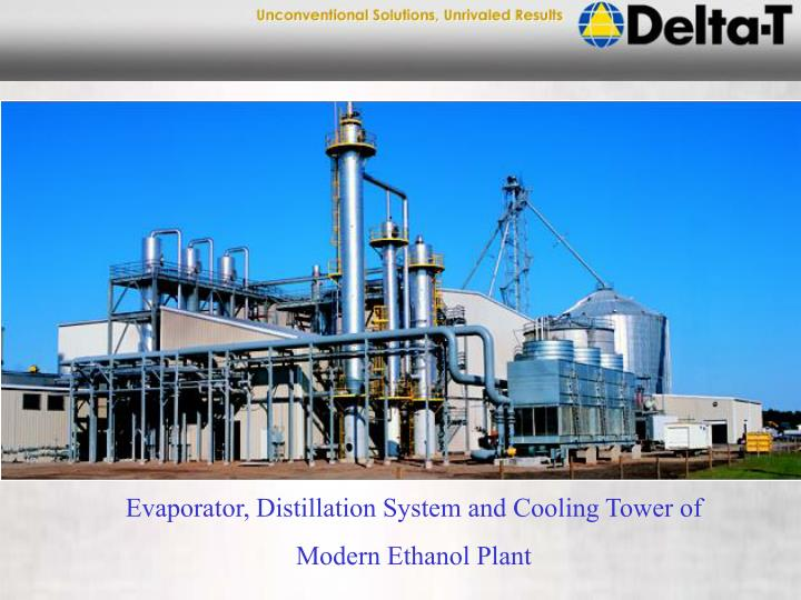 Evaporator, Distillation System and Cooling Tower of
