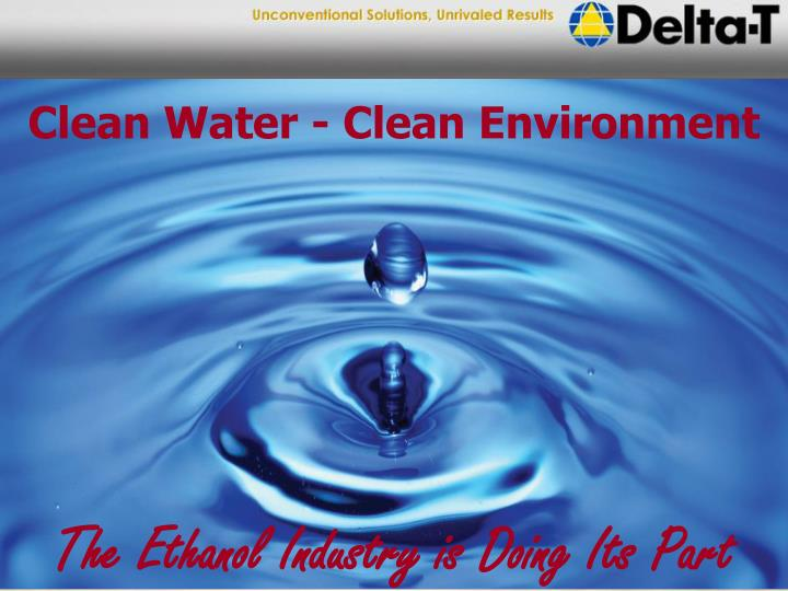 Clean Water - Clean Environment