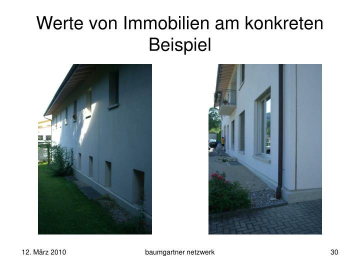 Werte von Immobilien am konkreten Beispiel