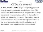 ccd architectures 4