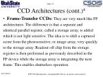 ccd architectures cont 41