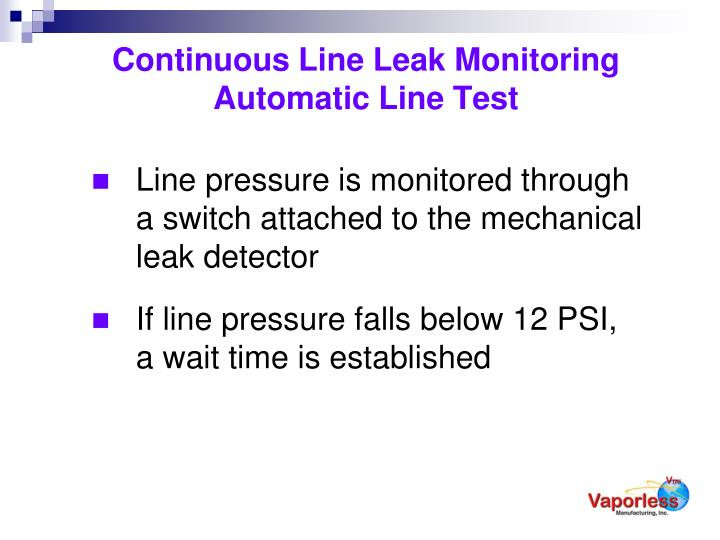 Continuous Line Leak Monitoring