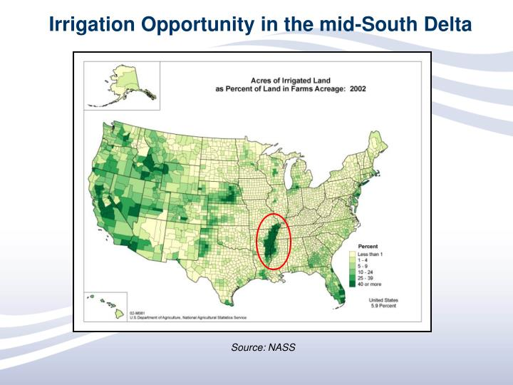 Irrigation Opportunity in the mid-South Delta