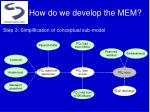 how do we develop the mem3