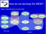 how do we develop the mem4