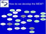 how do we develop the mem6