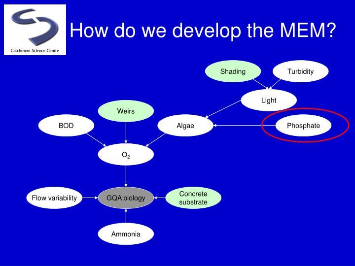 How do we develop the MEM?