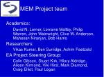 mem project team