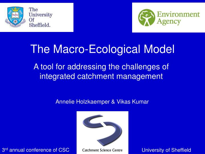 the macro ecological model