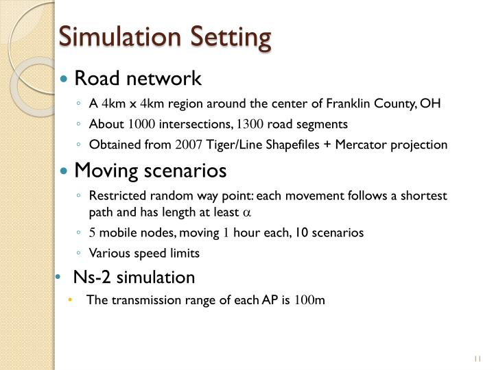 Simulation Setting