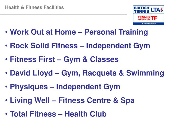 Health & Fitness Facilities