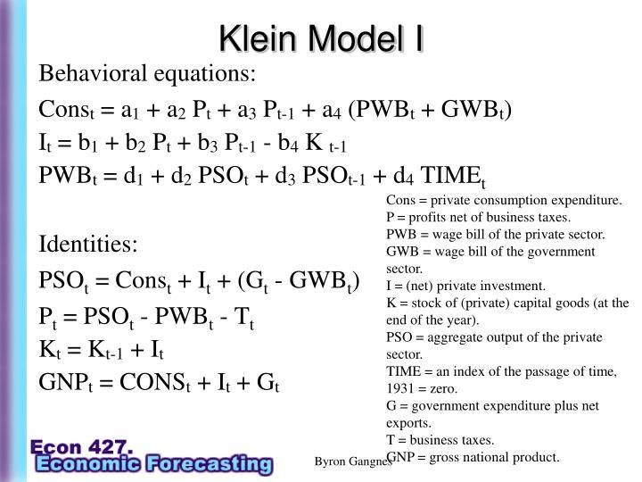 Klein Model I