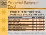 perceived barriers tier 2