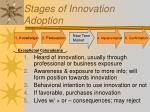 stages of innovation adoption