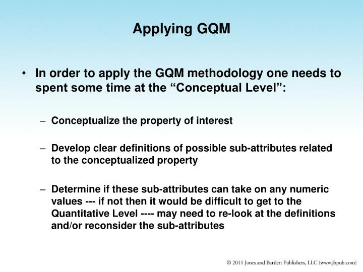 Applying GQM