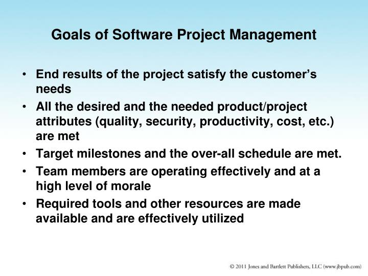 Goals of Software Project Management